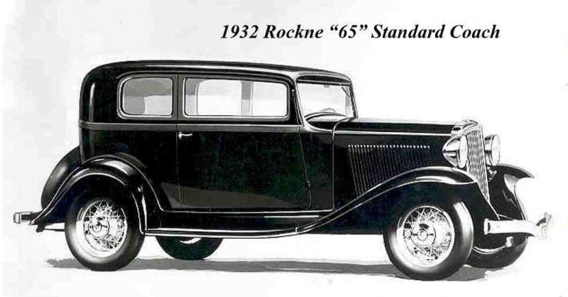 1932 Rockne 65 Standard Coach